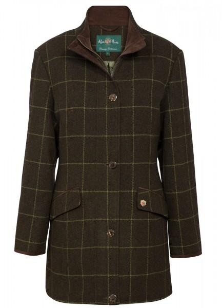 Damen Tweed Jacke Mantel Field Jacket