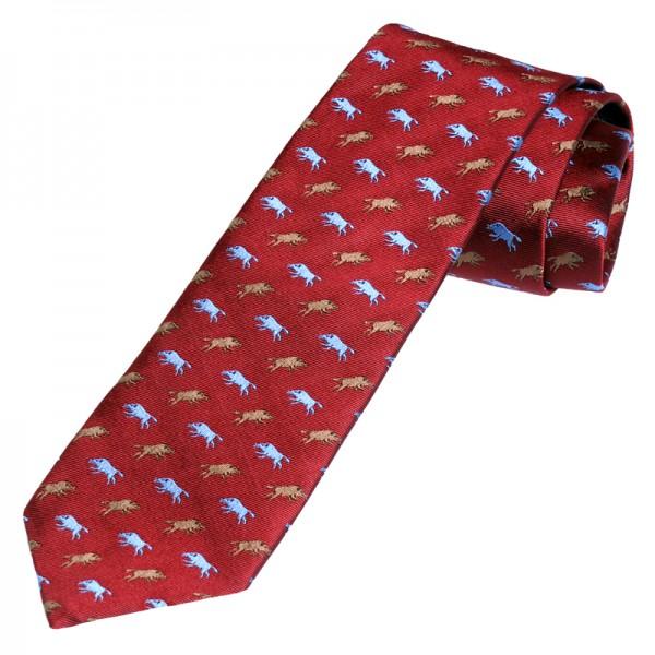 rote Krawatte für Jäger mit Wildschweinen