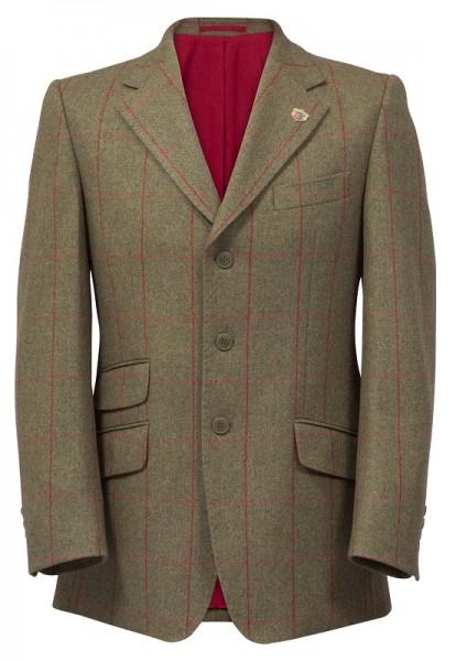 Combrook Herren Tweed Sakko in oliv