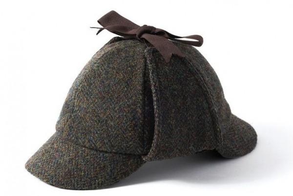 Deerstalker Harris Tweed Hut Sherlock Holmes