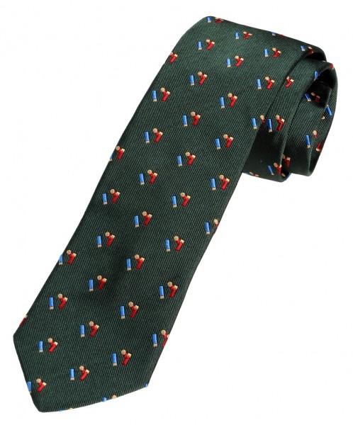 Krawatte für Jäger mit Schrotpatronen