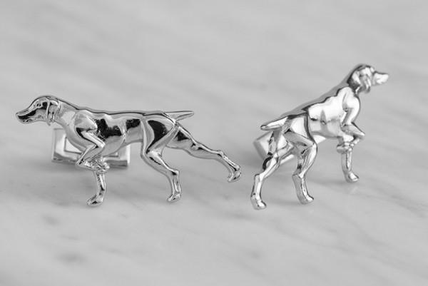 Manschettenknöpfe Jagd Jäger Vorstehhund