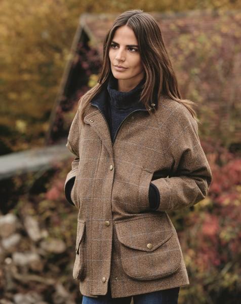 Chrysalis Damen Tweed Jacke Cotswold beige braun