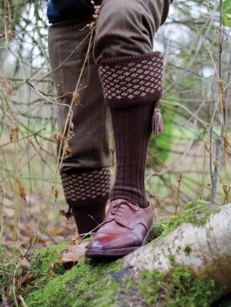 Boughton Socks Dark Natural Camel