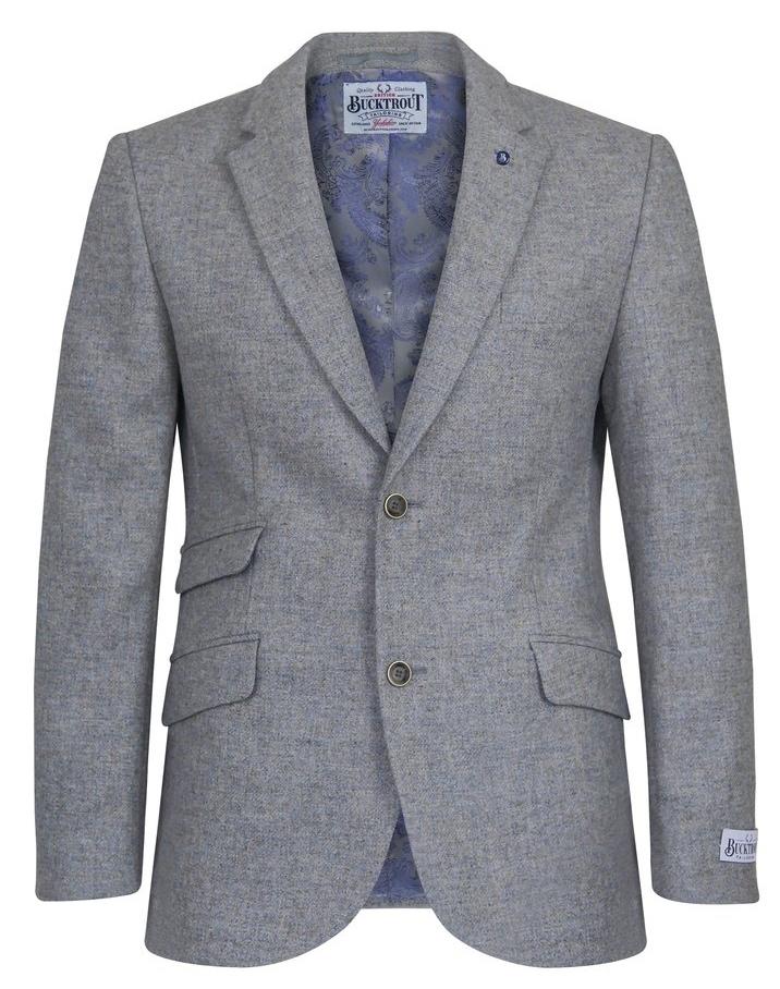 2f4d46e624bd Yorkshire Tweed Sakko in Pebble Grey