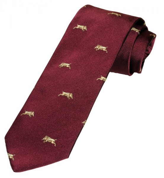 Krawatte Wildschwein Bordeaux Rot