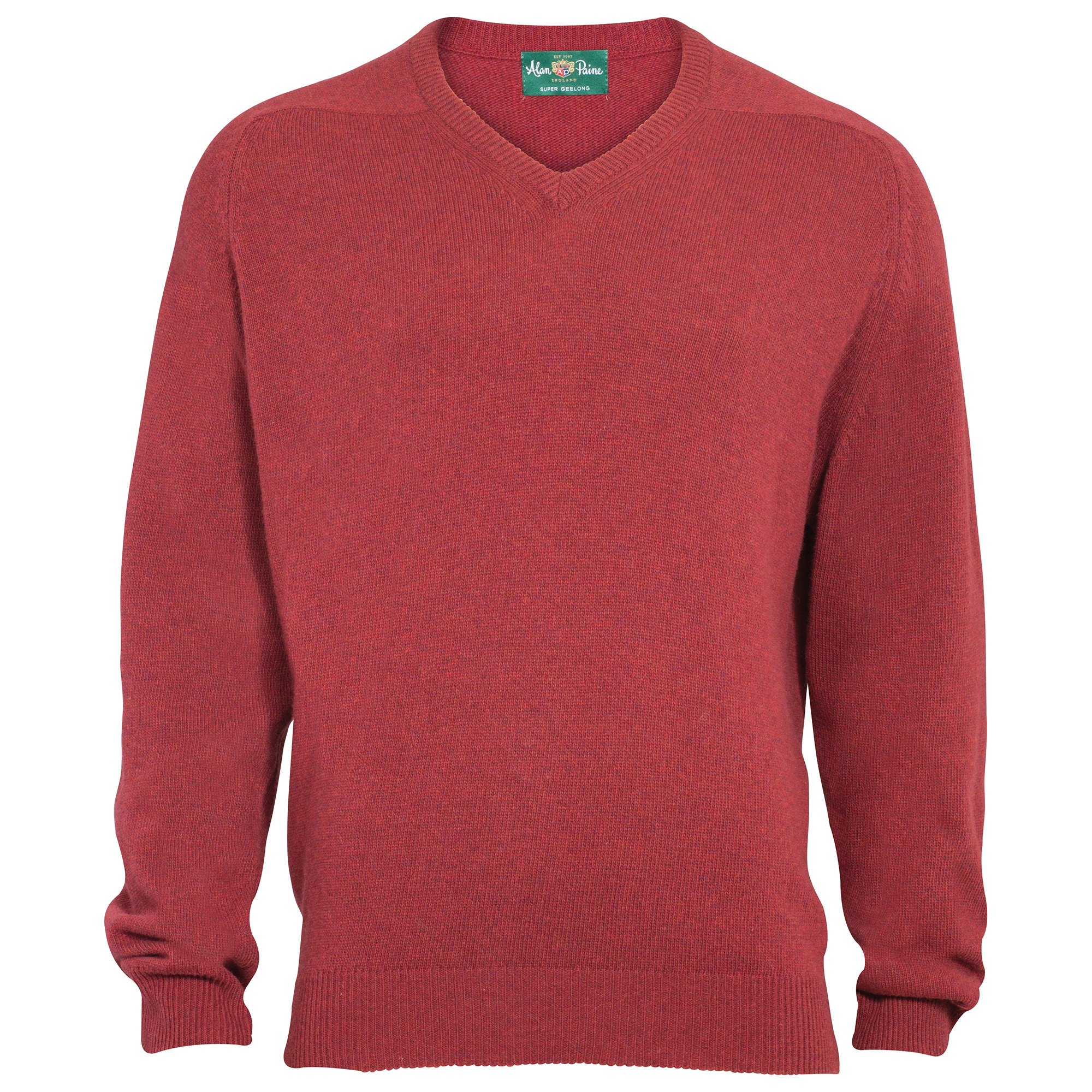 Lambswool Pullover in Jeansblau von Alan Paine