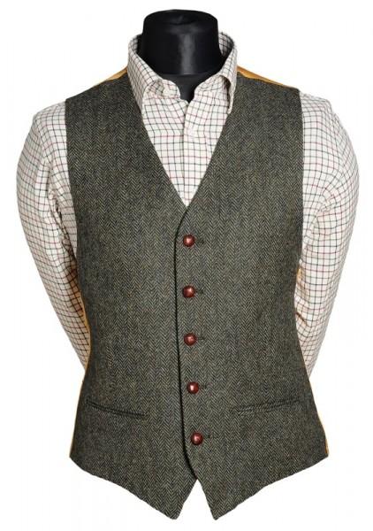 Herren Tweed Weste Anzug
