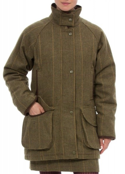 Damen Tweed Shooting Coat Combrook in Heather