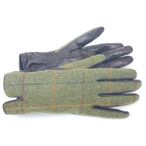 Damen Jagd Handschuhe Tweed