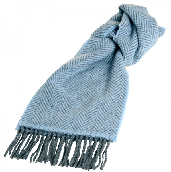 warmer Merino Wollschal blau