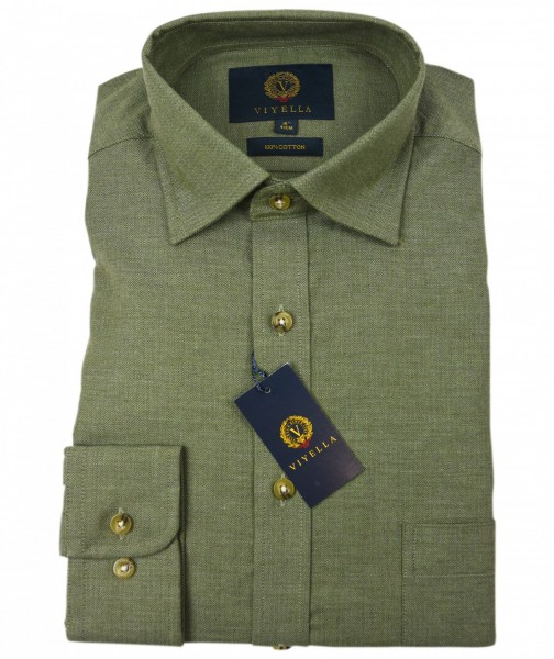Herren Jagdhemd in Plain Lovat Green