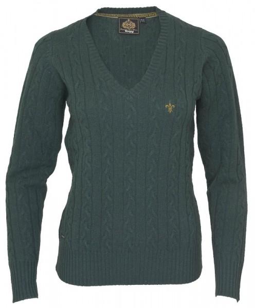 Damen Lambswool Pullover Bampton in Green