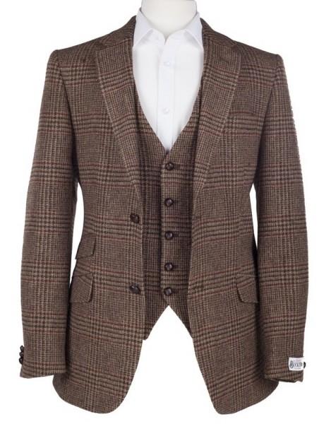 Herrne Tweed Sakko Yorkshire Tweed Brown