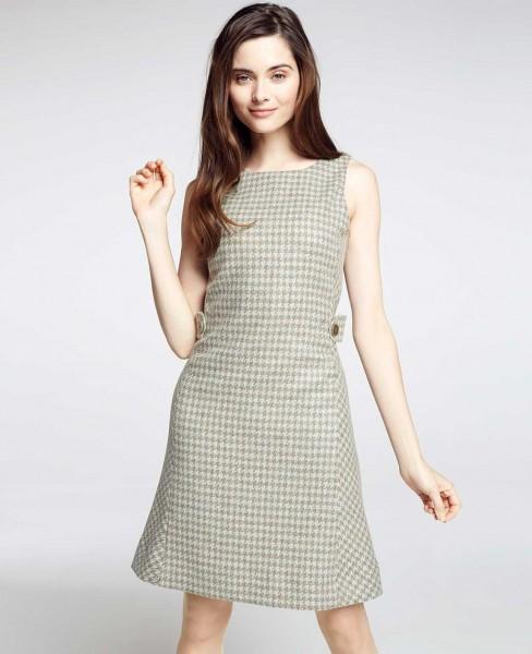 Tweed Kleid Damen ärmellos