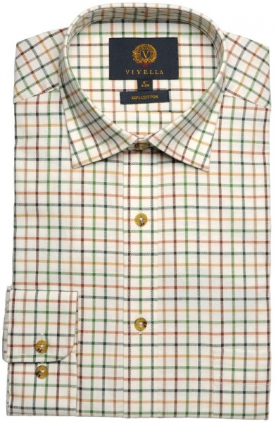 Viyella Shirt Tattersall Grenn Mix