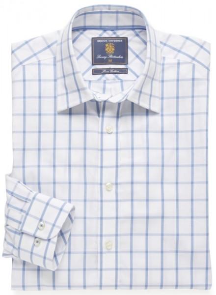 Freizeit Hemd Blau Karo
