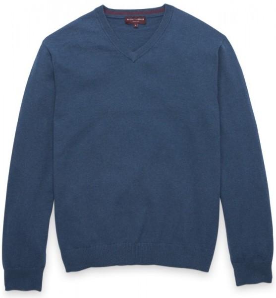 Indigo Cotton Cashmere Pullover