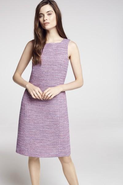 Tweed Kleid ärmellos